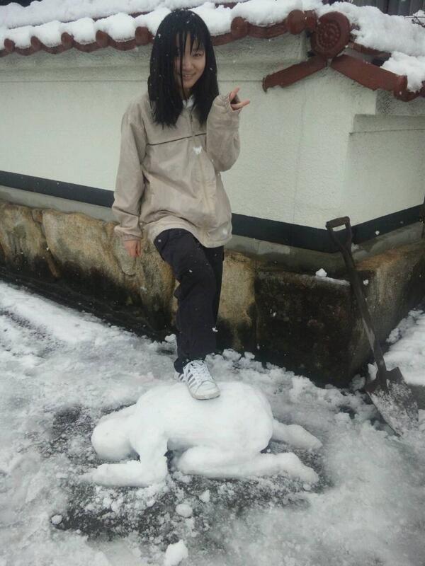 妹が作った雪だるまがガチでヤバい | わろすワロス。