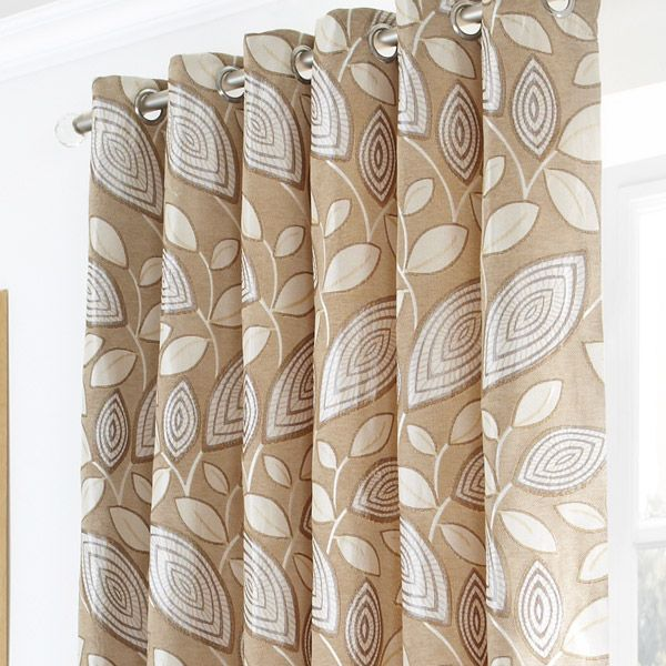 london leaf cream eyelet ring top curtains