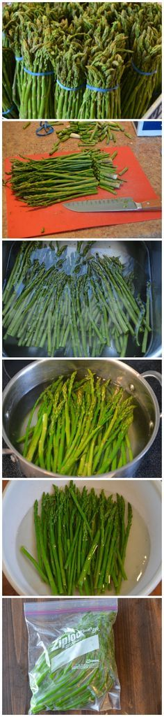 Freezing Asparagus - it's easy and a great way to save some of springs extras for later!