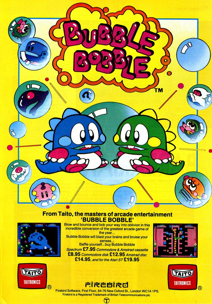 #Bubble Bobble Video Games Posters Your #1 Source for Video Games, Consoles