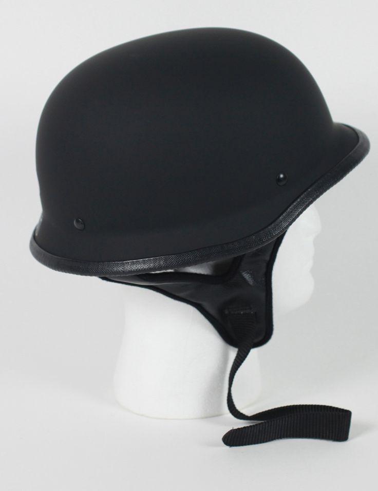 half german motorcycle helmet $19.95#motorcyclehelmet #motorcyclehelmets #germanhelmet #blackgermanhelmet https://theleatherdropship.com