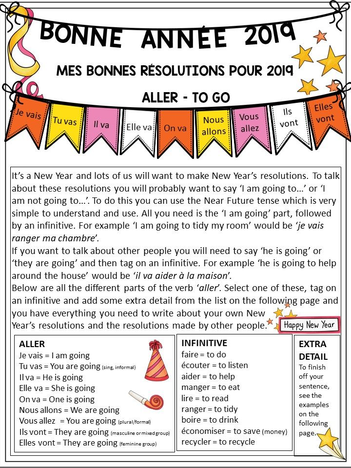 2020 French New Year S Resolution Worksheet New Years Resolution Teaching Resources Teaching