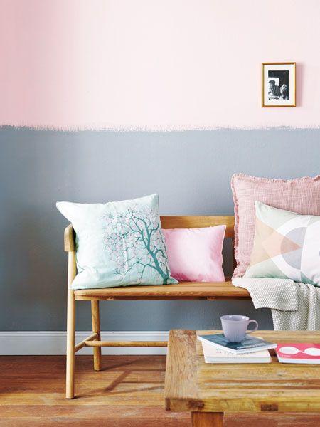 Ein simpler Wandanstrich in Pastell – und fertig? Dabei gibt es doch so viele schöne Farben! Wer sich nicht recht entscheiden mag, kann mit einer zweifarbigen Wandgestaltung effektvoll Abhilfe schaffen.