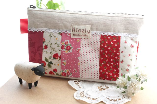 Patchwork pouch tutorial.