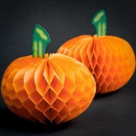 Pumpkin Fold Out Decoration 2 Pack Instant pumpkin! No messy carving :) #poundlandhalloween