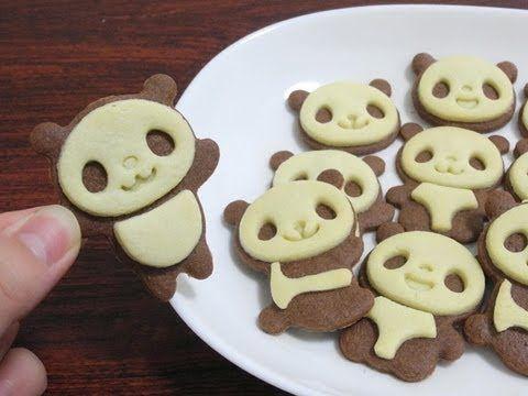 Panda cookies set パンダクッキーセット - YouTube