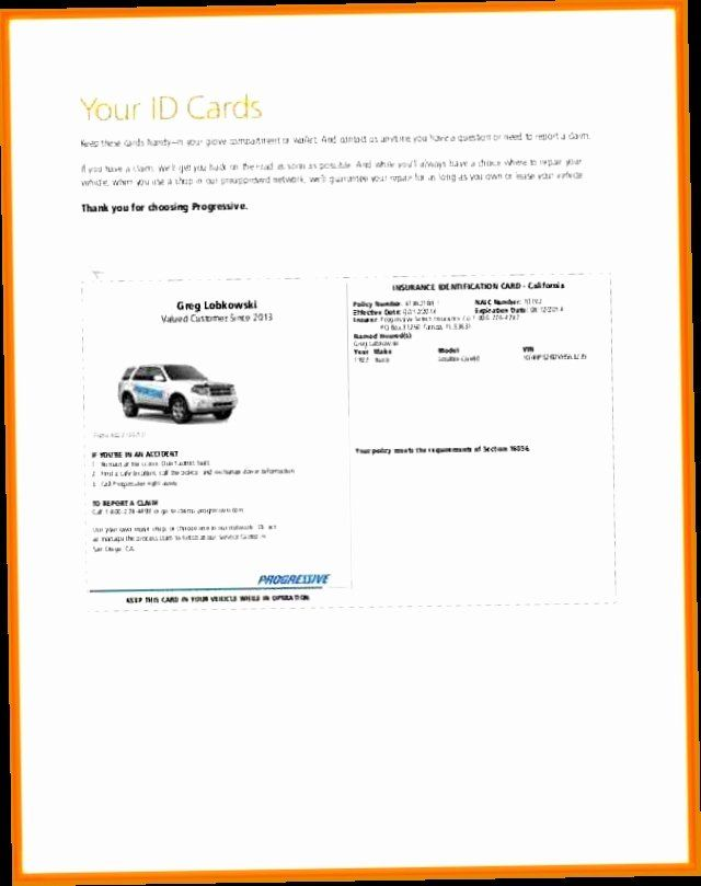Progressive Insurance Card Template Beautiful Insurance Pany Auto