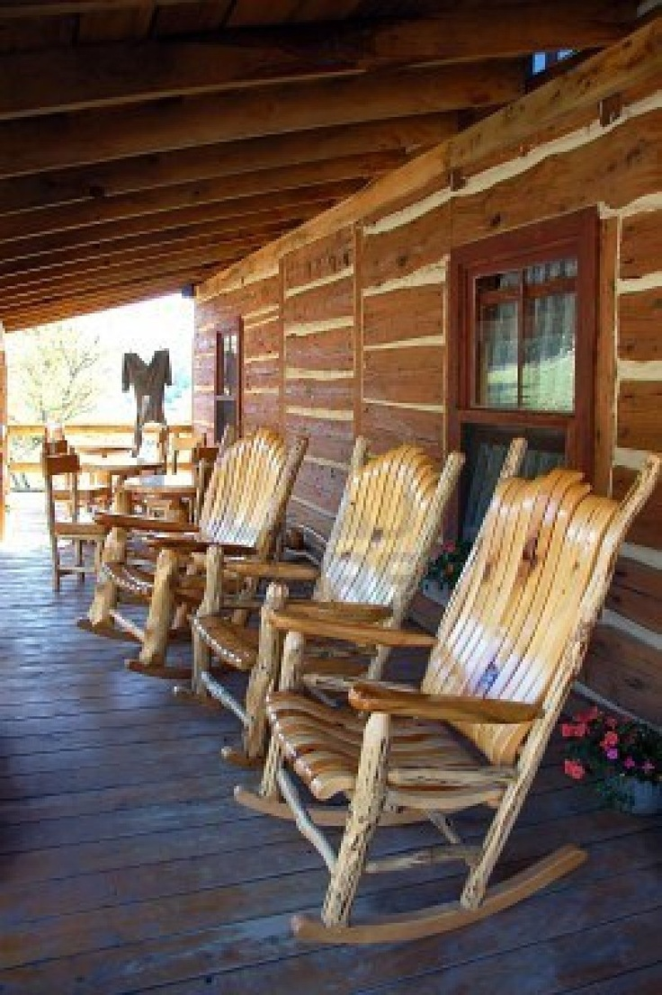 Porch rocking chairs which slicked up with red cushion of front porch - Rocking Chairs On The Front Porch Http Www 123rf Com