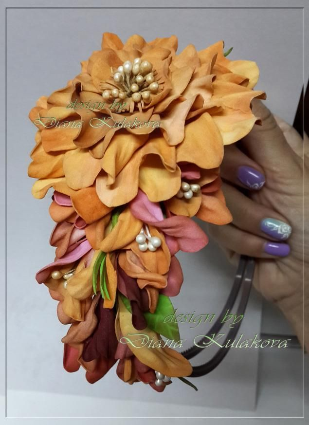 "Creating rose from foamirana ""Vivienne"" - Fair Masters - handmade, handmade"
