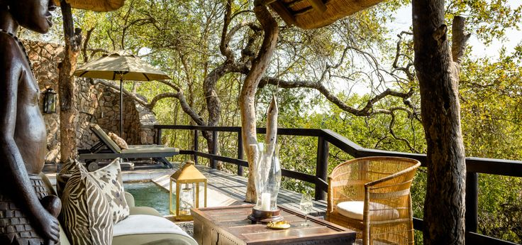 Singita Ebony Lodge comprises 12 suites, each with its own private plunge pool