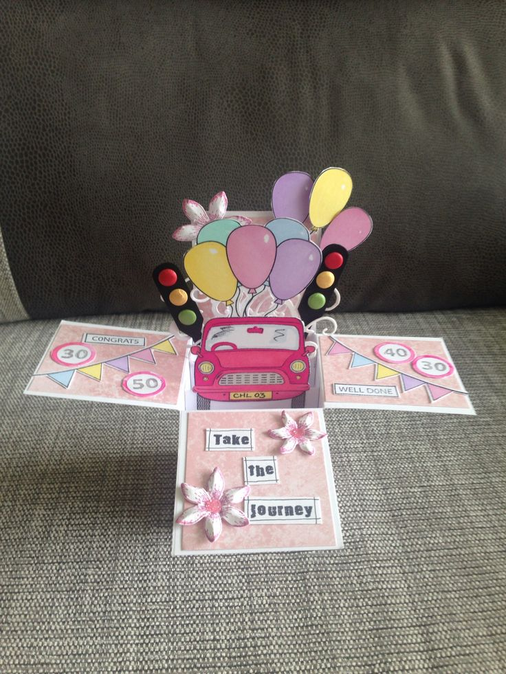 Pop up Card - passed driving test