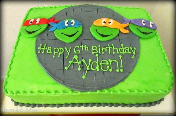 T.m.n.t. Teenage Ninja Turtle Birthday Cake