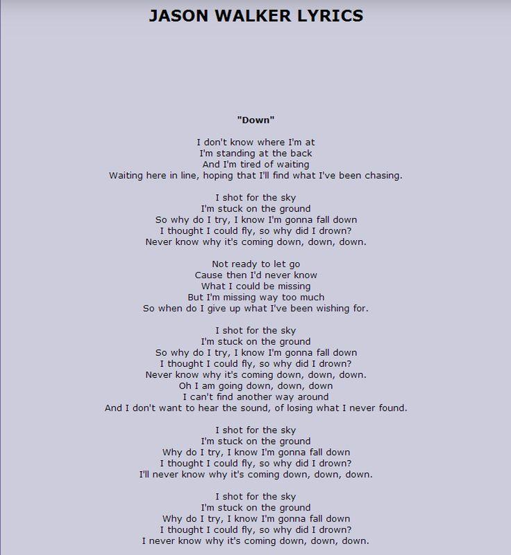 On the way down lyrics ryan