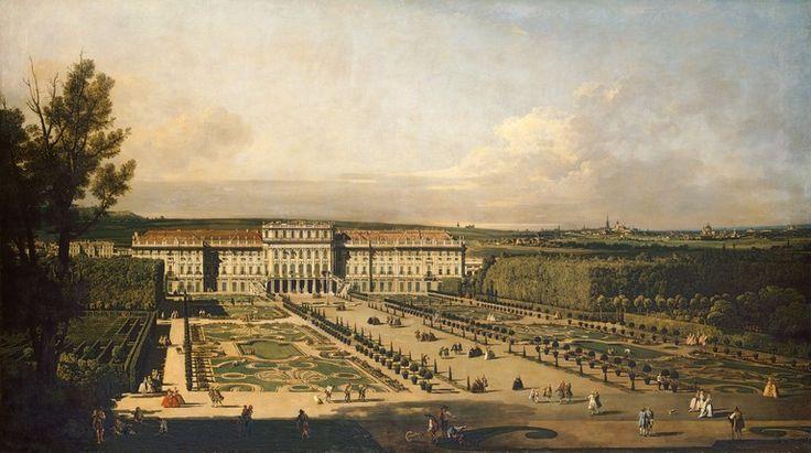 Bernardo Bellotto (Canaletto): Schönbrunn View from Gardens, Oil painting, 1759/60