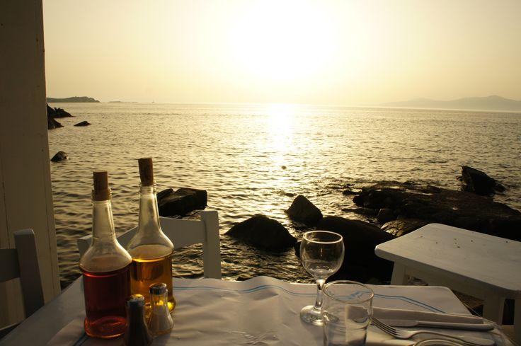 Best restaurant to enjoy the sunset in Mykonos!