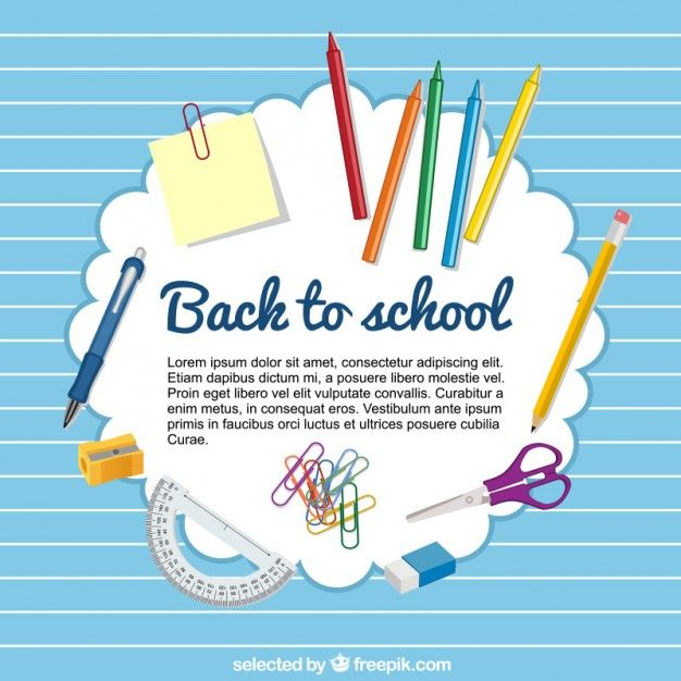 Free vector Back to school template #11563