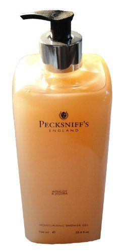 Pecksniff's Vitamin Enriched Shower Gel - Apricot & Jojoba 25.4 oz by Pecksniff's. $21.95. MADE RIGHT IN ENGLAND THIS WOULD MAKE A WONDERFUL GIFT FOR YOURSELF AND YOUR GUEST THAT USE YOUR SOAP  100% AUTHENTIC PECKSNIFF'S ENGLAND