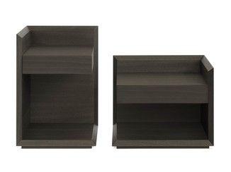 Rectangular wooden bedside table GREA   Bedside table - Lema