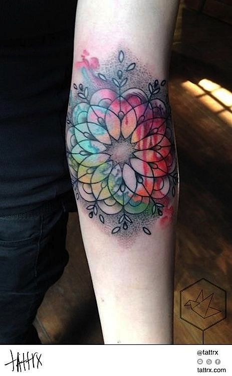 Yadou - Rainbow Mandala tattrx.com/artists/yadou tumblr: yadou-portfolio