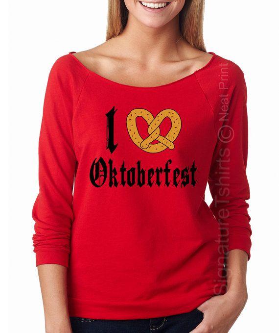 I Love Oktoberfest shirt Off the shoulder Womens shirt German Shirt Funny Beer…