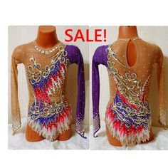 SALE!! Rhythmic gymnastics leotard for sale, used, in excellent condition. Height 122-128 cm, chest 57-61 cm, waist 50-54 cm, hips 61-65 cm, torso 104-109 cm. Price $570 USD (€550 ). Shipping by the saler. #leotardforsale #rhythmicgymnastics #alinasololeotards #sale #продаетсякупальникдляхудожественнойгимнастики
