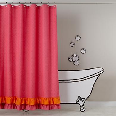 Best 25 kids shower curtains ideas on pinterest kids for Pink and orange bathroom ideas