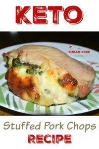 Keto Stuffed Pork Chops Recipe!   A tasty high fat meal!