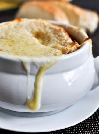 crockpot french onion soup (make on a weekend; you let it cook for 60 minutes on high, then turn to low & cook for 6-8 hours)