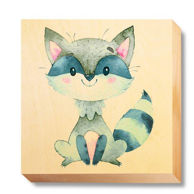 CHI 044 Children's Art - Watercolour Raccoon
