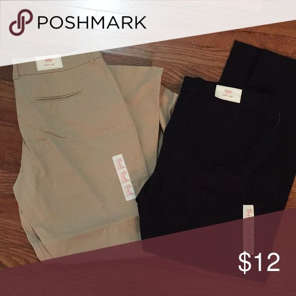 Khakis by Gap Tan and black khakis pants can sell together or separate. 12.00 for each pair or make me an offer for both GAP Pants Trousers