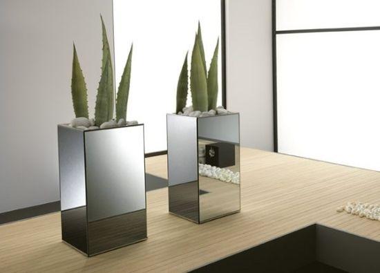 Kakteen Vase-Metall Spiegel Design Büro