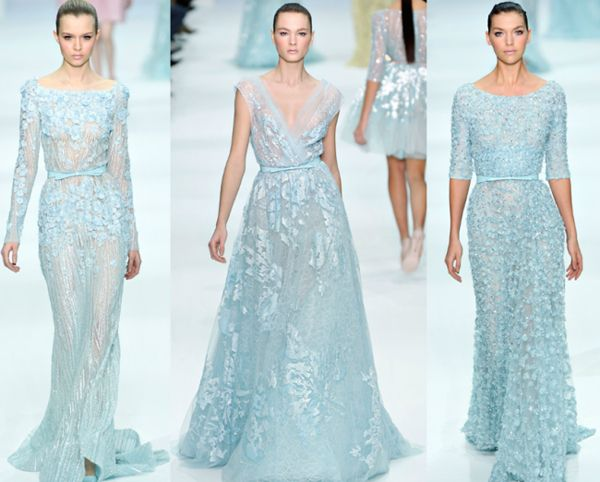"""""""Frozen"""" wedding dresses that are to die for! courtesy of eliesaab.com"""