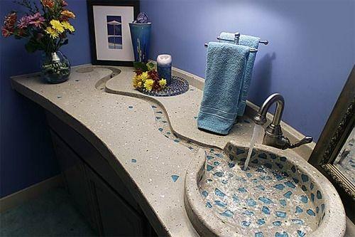 Great, creative idea for a sink.: Decor, Interior, Modern Bathroom, Dream House, Bathroom Sinks, Bathroom Ideas, Design, Dreamhouse