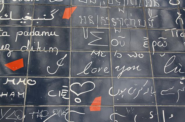 in paris, a wall of 'i love you's'