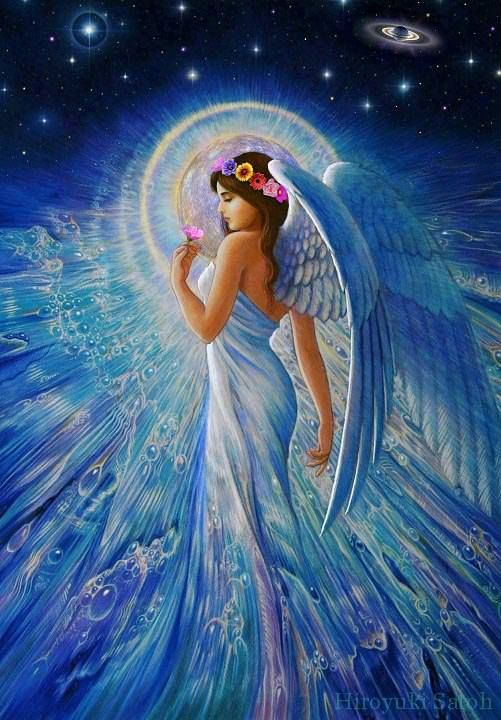"""Blue Angel Beauty.  Repinned by An Angel's Touch, LLC, d/b/a WCF Commercial Green Cleaning Co., """"Denver's Property Cleaning Specialists"""" http://angelsgreencleaning.net"""