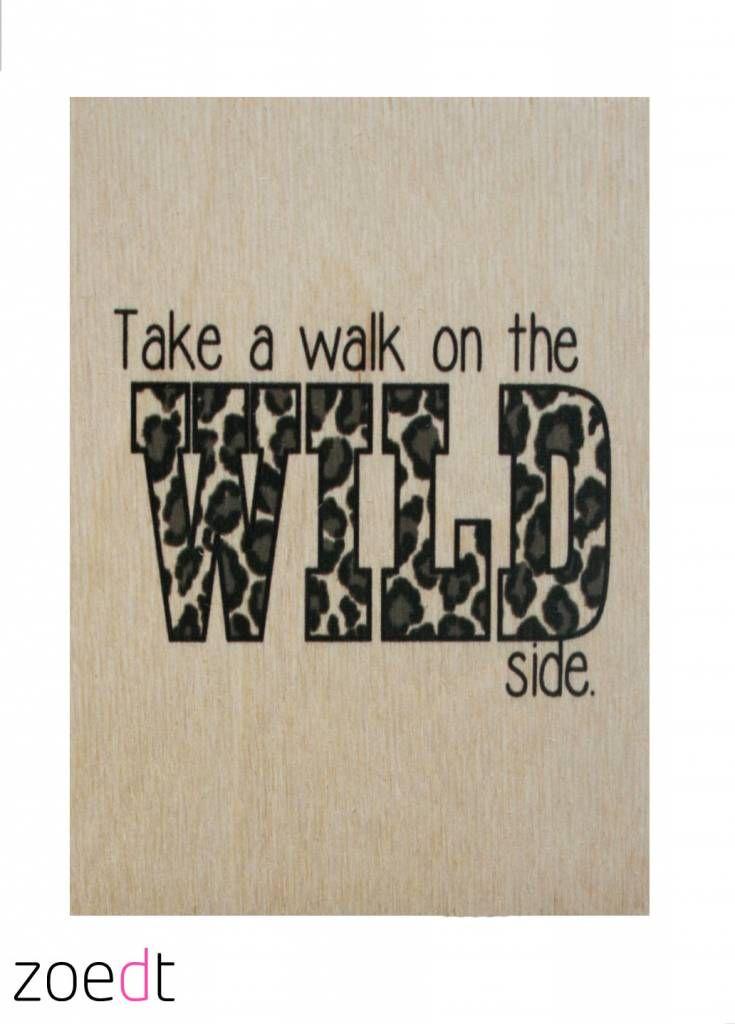 Take a walk on the wild side! Unieke houten kaarten!