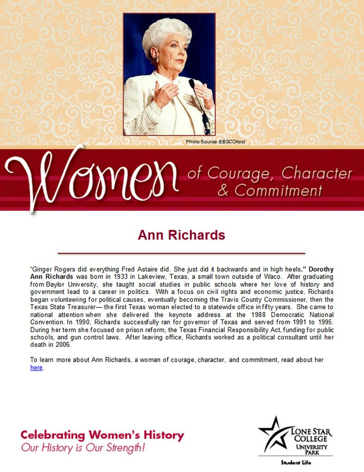 52 best womens history month images on pinterest feminism 1970s women of courage character commitment woman of the day governor ann richards to read more about her fandeluxe Image collections