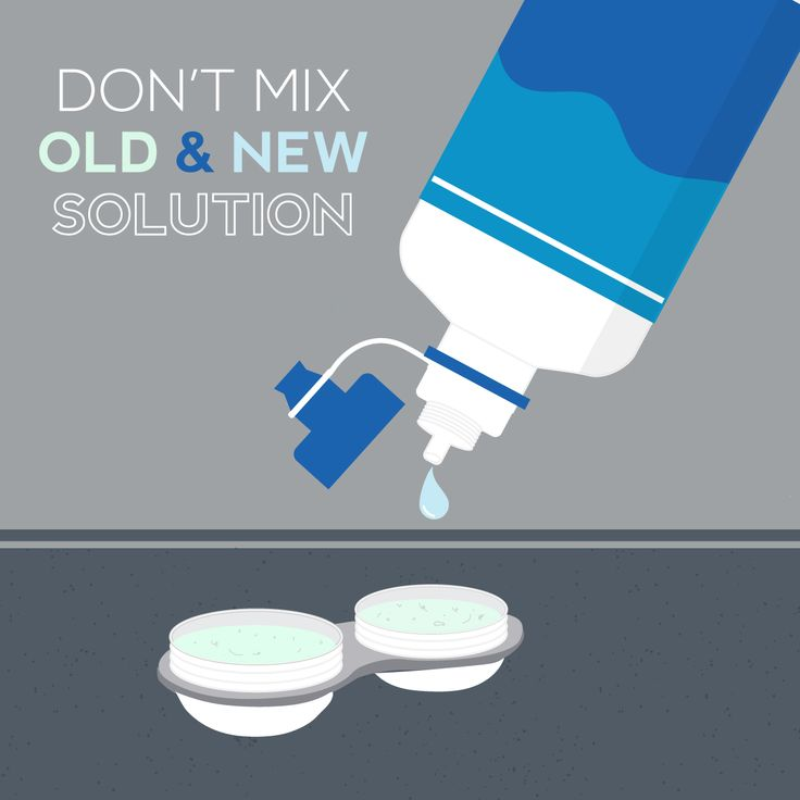 "DON'T ""TOP-OFF"" solution! Use only fresh contact lens solution in your case and never mix fresh solution with old or used solution to keep your eyes healthy! #NationalContactLensHealthWeek #ZionsvilleEyecare"
