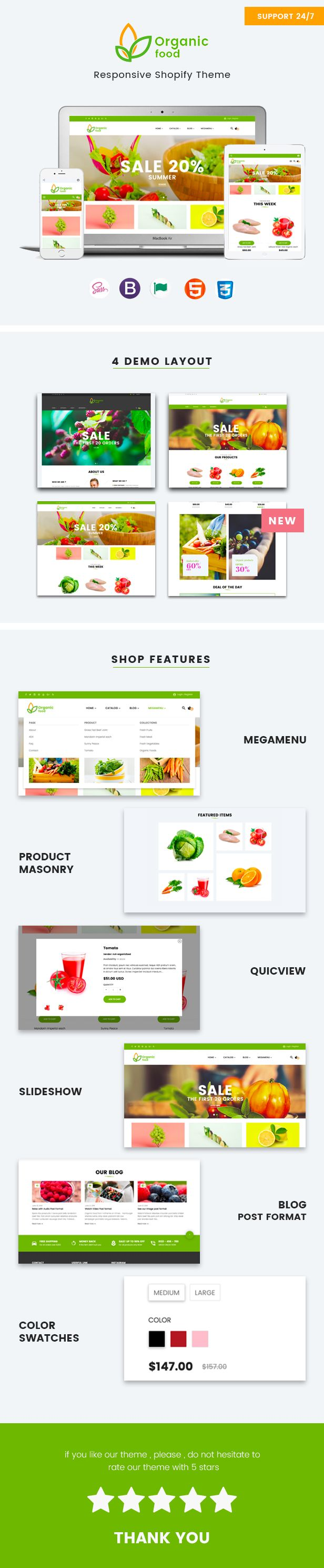 Organic Food, with its excellent clean design, is an ideal option for organic food related websites: agricultural business, healthy food blog, organic food shop, organic farm, bakery, you name it!  The theme has an intuitive visual interface and informative layout that looks wonderful on any platform #food #blog #design