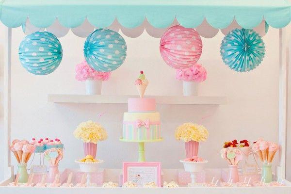Doğum günü konsepti / Dondurma | Pink Follow