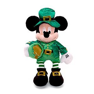 Disney Mickey Mouse Irish Medium Soft Toy | Disney StoreFree Shipping - Top of the morning to ya! This Irish themed Mickey Mouse soft toy would make for a fun friend at playtime, or a fantastic addition to any Disney collection.