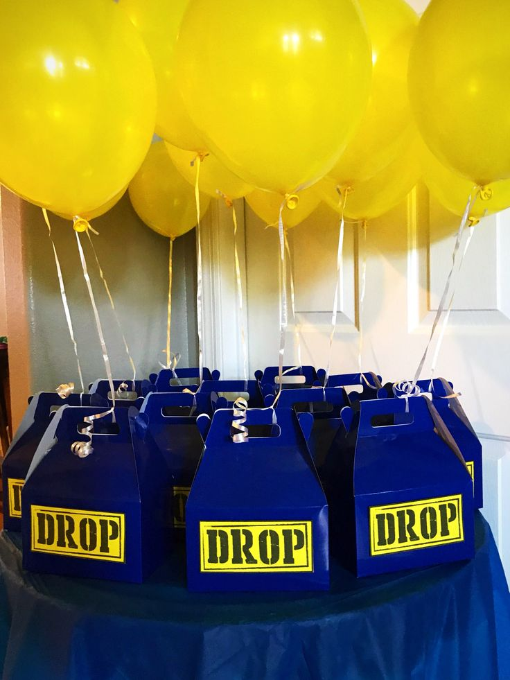 Fortnite Birthday Party Favors Drop Boxes Boy Birthday Parties Birthday Party Planning