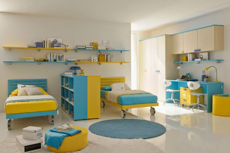 kids bedroom by astounding blue yellow kids bedroom with pretty book rack ideas and minimalist study beautiful designer childrens beds and furnitures on bedroom images