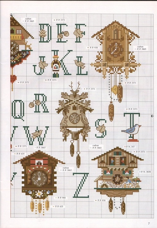 Cuckoo Alphabet 2 - Cross Stitch Pattern