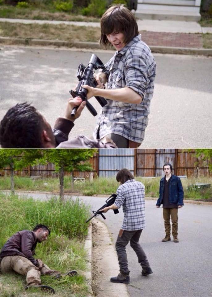 """The Walking Dead Season 6 Episode 2 """"JSS"""" Carl"""
