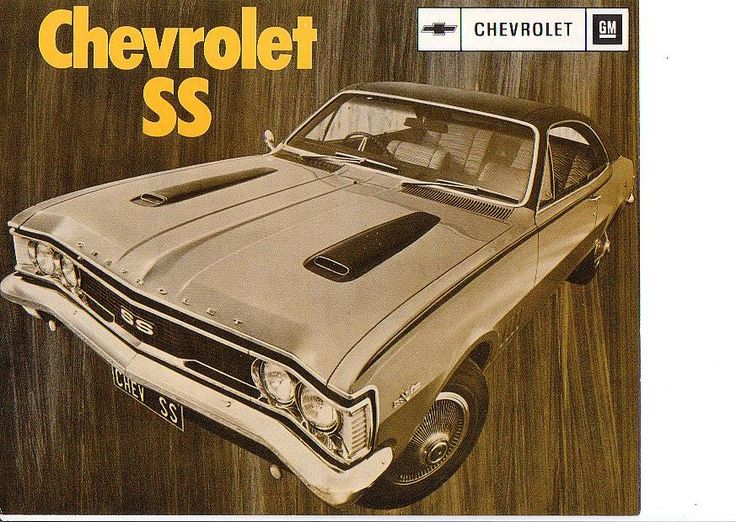 1972 Chevrolet SS single page sales sheet. South African version of the Australian HG Holden Monaro 350 V8