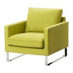 MELLBY Armchair - Dansbo yellow-green - IKEA