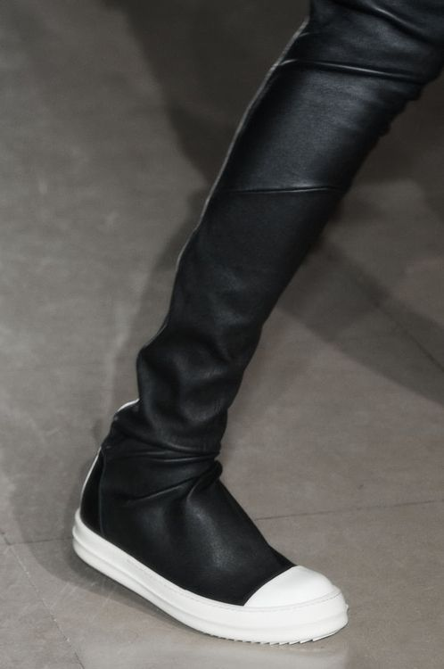 Leather SQUARE TOE THIGH HIGH STRETCH BALLERINAS Boots Spring/summerRick Owens qNlW7iRL