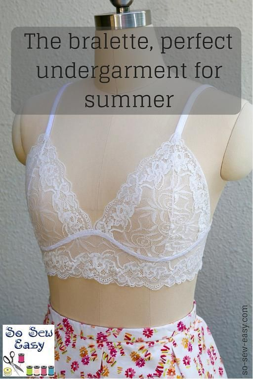Free Sewing Pattern: Bralette – Perfect Undergarment for Summer