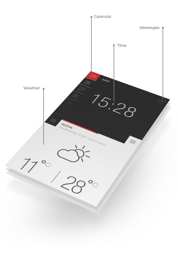 Weather and Time by s-pov , via Behance